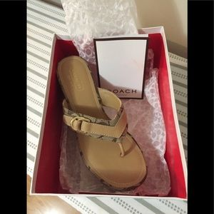 NEW Authentic COACH sandals size 8 NWT NIB
